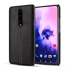 Soft Luxury Leather Snap On Case Cover for OnePlus 7 Pro Black