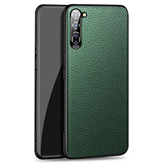 Soft Luxury Leather Snap On Case Cover for Oppo Find X2 Lite Green