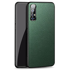 Soft Luxury Leather Snap On Case Cover for Oppo Find X2 Neo Green