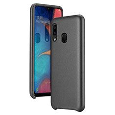 Soft Luxury Leather Snap On Case Cover for Samsung Galaxy A20e Black