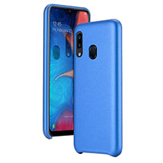 Soft Luxury Leather Snap On Case Cover for Samsung Galaxy A20e Blue