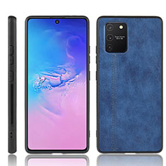 Soft Luxury Leather Snap On Case Cover for Samsung Galaxy S10 Lite Blue