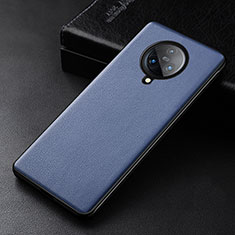 Soft Luxury Leather Snap On Case Cover for Vivo Nex 3 Blue