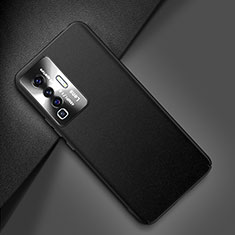 Soft Luxury Leather Snap On Case Cover for Vivo X50 5G Black