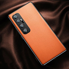 Soft Luxury Leather Snap On Case Cover for Xiaomi Mi 10 Ultra Orange