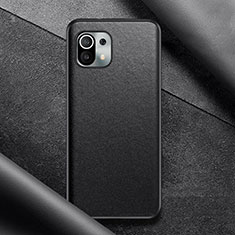 Soft Luxury Leather Snap On Case Cover for Xiaomi Mi 11 5G Black