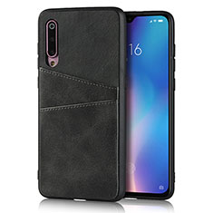 Soft Luxury Leather Snap On Case Cover for Xiaomi Mi 9 SE Black