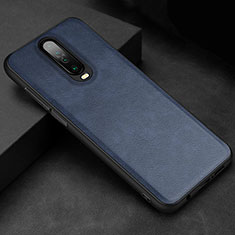 Soft Luxury Leather Snap On Case Cover for Xiaomi Redmi K30 5G Blue