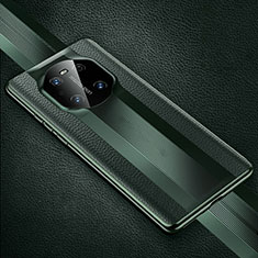 Soft Luxury Leather Snap On Case Cover K01 for Huawei Mate 40 Pro Midnight Green