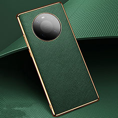 Soft Luxury Leather Snap On Case Cover K02 for Huawei Mate 40 Pro Green