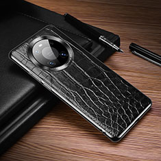 Soft Luxury Leather Snap On Case Cover K05 for Huawei Mate 40 Pro Black