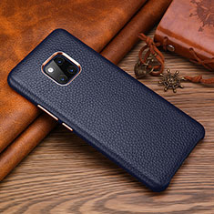 Soft Luxury Leather Snap On Case Cover L01 for Huawei Mate 20 RS Blue