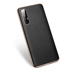 Soft Luxury Leather Snap On Case Cover L01 for Oppo Find X2 Neo Black