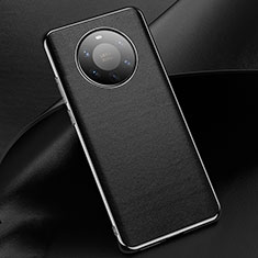 Soft Luxury Leather Snap On Case Cover L03 for Huawei Mate 40 Pro+ Plus Black