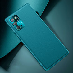 Soft Luxury Leather Snap On Case Cover N01 for Samsung Galaxy Note 20 5G Cyan