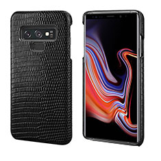 Soft Luxury Leather Snap On Case Cover P02 for Samsung Galaxy Note 9 Black