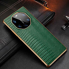 Soft Luxury Leather Snap On Case Cover R01 for Huawei Mate 40 RS Green