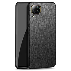 Soft Luxury Leather Snap On Case Cover R01 for Huawei P40 Lite Black
