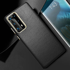 Soft Luxury Leather Snap On Case Cover R01 for Huawei P40 Pro+ Plus Black