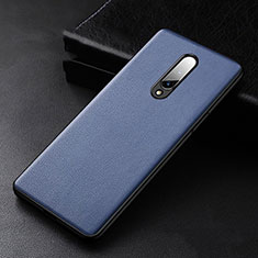 Soft Luxury Leather Snap On Case Cover R01 for OnePlus 8 Blue