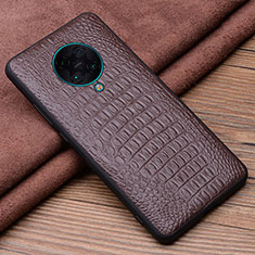 Soft Luxury Leather Snap On Case Cover R01 for Xiaomi Redmi K30 Pro Zoom Brown