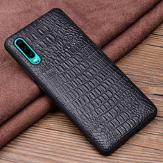 Soft Luxury Leather Snap On Case Cover R02 for Huawei P30 Black