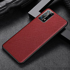 Soft Luxury Leather Snap On Case Cover R02 for Huawei P40 Pro+ Plus Red