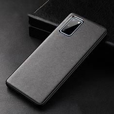 Soft Luxury Leather Snap On Case Cover R02 for Samsung Galaxy S20 Black