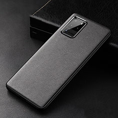 Soft Luxury Leather Snap On Case Cover R02 for Samsung Galaxy S20 Ultra 5G Black
