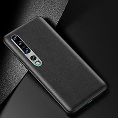 Soft Luxury Leather Snap On Case Cover R02 for Xiaomi Mi 10 Pro Black