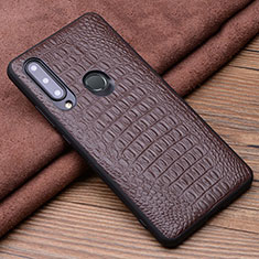 Soft Luxury Leather Snap On Case Cover R03 for Huawei Honor 20 Lite Brown
