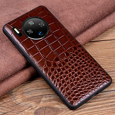 Soft Luxury Leather Snap On Case Cover R03 for Huawei Mate 30 Pro 5G Brown