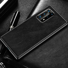 Soft Luxury Leather Snap On Case Cover R03 for Huawei P40 Pro+ Plus Black