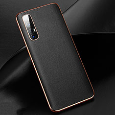 Soft Luxury Leather Snap On Case Cover R03 for Oppo Find X2 Neo Black
