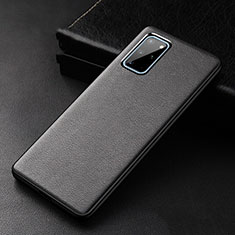 Soft Luxury Leather Snap On Case Cover R03 for Samsung Galaxy S20 Plus 5G Black