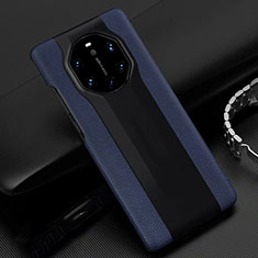 Soft Luxury Leather Snap On Case Cover R04 for Huawei Mate 40 RS Blue