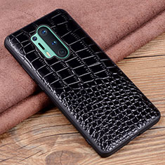 Soft Luxury Leather Snap On Case Cover R04 for OnePlus 8 Pro Black