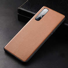 Soft Luxury Leather Snap On Case Cover R04 for Oppo Find X2 Neo Orange