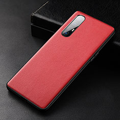 Soft Luxury Leather Snap On Case Cover R04 for Oppo Find X2 Neo Red
