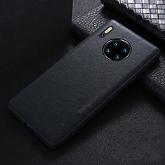 Soft Luxury Leather Snap On Case Cover R05 for Huawei Mate 30 Pro 5G Black