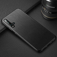 Soft Luxury Leather Snap On Case Cover R05 for Huawei Nova 5T Black