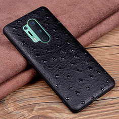 Soft Luxury Leather Snap On Case Cover R05 for OnePlus 8 Pro Black