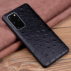Soft Luxury Leather Snap On Case Cover R05 for Samsung Galaxy S20 Plus 5G Black