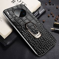 Soft Luxury Leather Snap On Case Cover R06 for Huawei Mate 30 Pro 5G Black