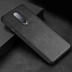 Soft Luxury Leather Snap On Case Cover R06 for OnePlus 8 Black