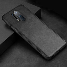 Soft Luxury Leather Snap On Case Cover R06 for OnePlus 8 Pro Black