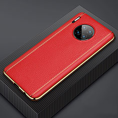 Soft Luxury Leather Snap On Case Cover R07 for Huawei Mate 30 Red
