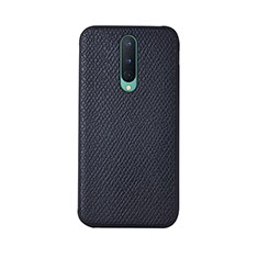 Soft Luxury Leather Snap On Case Cover R07 for OnePlus 8 Black