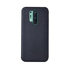 Soft Luxury Leather Snap On Case Cover R07 for OnePlus 8 Pro Black