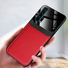 Soft Luxury Leather Snap On Case Cover R08 for Huawei Honor 20 Pro Red